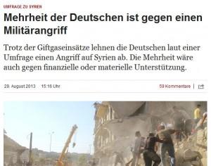 Die Zeit Deutsche gegen Beteiligung Deutschlands an Kriegseinsatz
