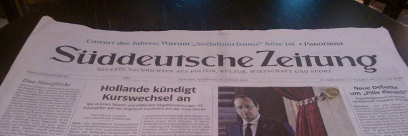 SZ: Hollande kündigt Kurswechsel an